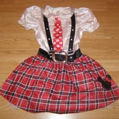 costum carnaval serbare rochie minnie pentru copii de 8-9-10 ani
