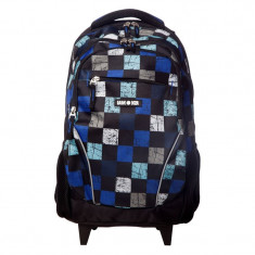 Rucsac Lamonza Windows, 46 cm, ergonomic, sistem troler, 2 roti