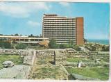 Bnk cp Mangalia - Parcul arheologic si hotelul Mangalia - circulata - mf, Printata