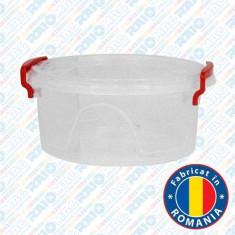 Cutie pentru depozitare alimente Maya din plastic cu mânere și capac, 1.2 litri