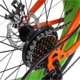 Bicicleta Fat Bike Velors V2019B cadru otel portocaliu verde