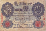 Germania bancnota 20 marci 1909