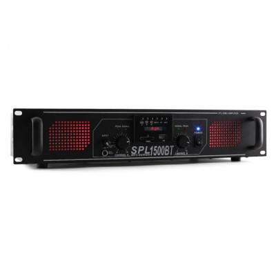 Skytec SPL 1500BT 1500W amplificator Hifi/PA Bluetooth USB foto