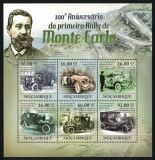 MOZAMBIC 2011 - Masini, Raliul de la Monte Carlo, aniversare 100 ani MNH