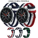 Curea textila 22mm Samsung Gear S3 Frontier Galaxy Watch 3 46mm Huawei GT GT2