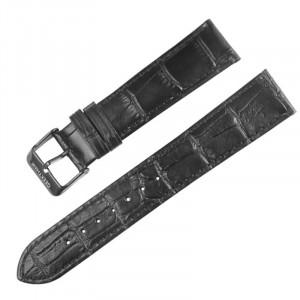 Curea piele naturala compatibila Samsung Galaxy Watch Active, 20mm, Black
