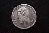 Monedă Rară 5 Lei Carol l Rege Al României 1881