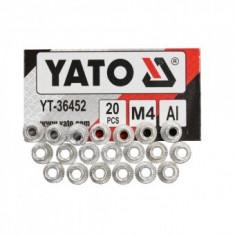 Set piulițe nituibile M4, 20 bucăți Yato YT-36452
