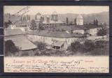 SALUTARI DIN RAMNICU  VALCEA  EPISCOPIA CLASICA  CIRCULATA 1903 STAMPILA TREN