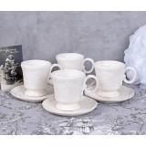 Set patru cesti de cafea din portelan alb CW164, Seturi