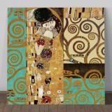 Tablou Gustav Klimt, 40x40cm, calitate, nou!, Abstract, Acrilic