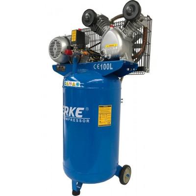 Compresor de aer vertical 100 litri, 2 cilindri 3kW, 220V VERKE V81110 foto