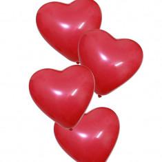 Baloane forma inimioara, 12 bucati, rosu