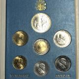 VATICAN set lire 1000 ag, 500, 200, 100, 50, 20, 10 1987 UNC  Giovani Paolo II