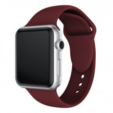 Curea compatibila Apple Watch 1/2/3/4, silicon, 42/44mm, visiniu