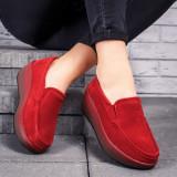 Pantofi dama piele naturala rosii Parisa-rl
