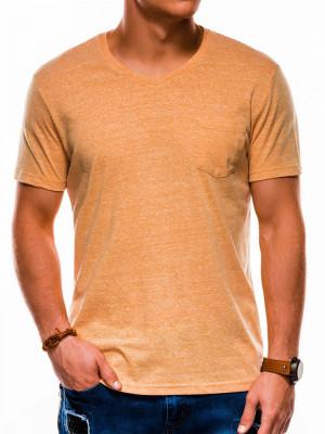Tricou barbati S1045 - galben foto