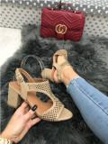 Sandale dama bej cu toc mic marime  39+CADOU