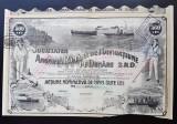 Actiune Societatea de navigatiune pe Dunăre , A. Saligny , actiuni , titlu