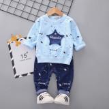 Costumas bleu pentru baietei - Misanely (Marime Disponibila: 2 ani)