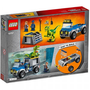 Set de constructie LEGO Juniors Camionul de Salvare al Raptorului