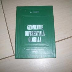 GEOMETRIE DIFERENTIALA GLOBALA  GH. VRANCEANU