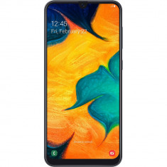 Smartphone Samsung Galaxy A30 A305FD 64GB 4GB RAM Dual Sim 4G Black, Negru, Neblocat