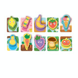 Joc de societate tactil Yummies Dodo, 10 carduri cu imagini colorate, 3 ani+