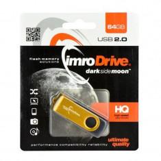 Memorie USB Imro Drive, 64GB, Auriu