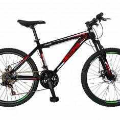 Bicicleta MTB HT 24 FIVE Velar cadru otel culoare negru rosu
