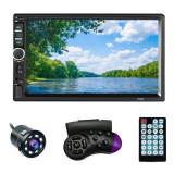 "Cumpara ieftin MP5 Player Techstar® 7021, 2DIN, Camera Marsarier, Ecran HD Touch 7"", Comenzi Volan, Telecomanda, MirrorLink, Bluetooth 4.2"