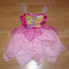 Costum carnaval serbare rochie barbie fluture fluturas pentru copii de 4-5-6 ani, 4-5 ani, Din imagine