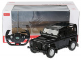 Masina Cu Telecomanda Land Rover Defender Negru Cu Scara 1 La 14