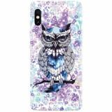 Husa silicon pentru Xiaomi Mi Max 3, Abstract Owl