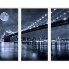 Set tablou 3 piese fosforescent Brooklyn