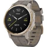 Smartwatch Fenix 6S Sapphire Gold Si Curea Crem