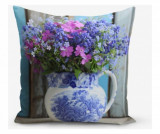 Fata de perna Double Colorful Vazo Çiçeği 45x45 cm