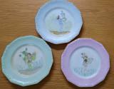Trei farfuriile Rosenthal pictate