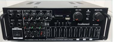 Amplificator audio , mixer, MP3 player , radio, Bluetooth, telecomanda
