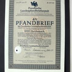 Titlu De Stat Obligatiune Germania 1942-1000-Reichsmark.