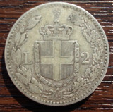 (A281) MONEDA DIN ARGINT ITALIA - 2 LIRE 1887, UMBERTO I, Europa