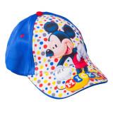 Sapca baieti Mickey Mouse albastra cu alb si buline colorate