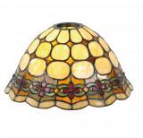Abajur veioza din sticla si polirasina Tiffany Ø 25 cm x 15 h, Clayre & Eef