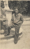 2 poze adjutant aviator Alexandru Economu as aviație vânătoare al doilea razboi
