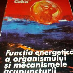 FUNCTIA ENERGETICA A ORGANISMULUI SI MECANISMELE ACUPUNCTURII Teodor Caba