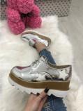 Adidasi dama argintii cu platforma marime  38, 39, 41+CADOU