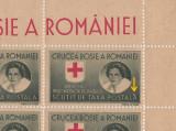 ROMANIA 1946 - CRUCEA ROSIE SV. PRIZONIERILOR DE RAZBOI COALA CU EROARE  MNH
