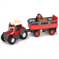 Tractor Animal Trailer cu remorca si figurina cal Dickie Toys Happy Ferguson