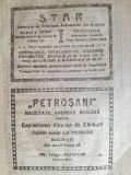 """Cumpara ieftin reclama """"Petrosani"""" SAR Exploatarea Minelor Carbuni , 1922,  16 x 23 cm, Petrosa"""