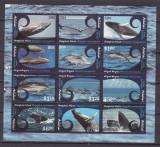 Aitutaki  2012  fauna  marina  balene  delfini   kleib.    MNH w55